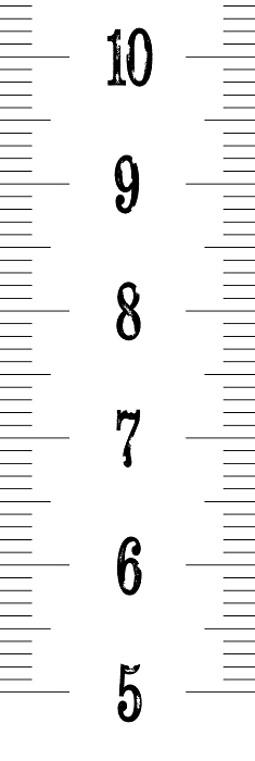 Measuring Ruler Tape Height Growth Chart