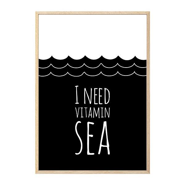 I need vitamin sea wall art print for I need art for my walls