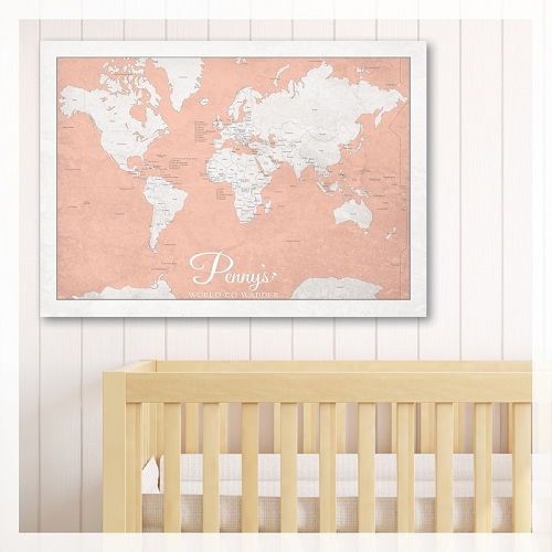 KIDS WORLD MAP - Peach