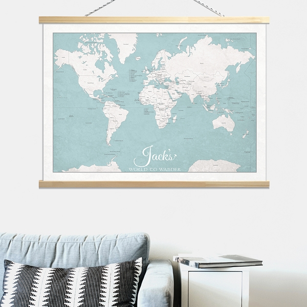 KIDS WORLD MAP - Canvas