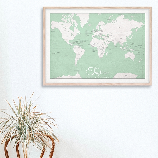 KIDS WORLD MAP - Green