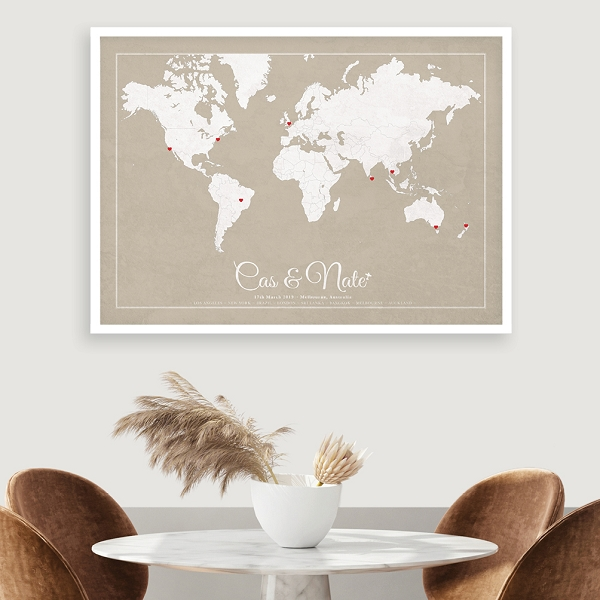 WEDDING WORLD MAP