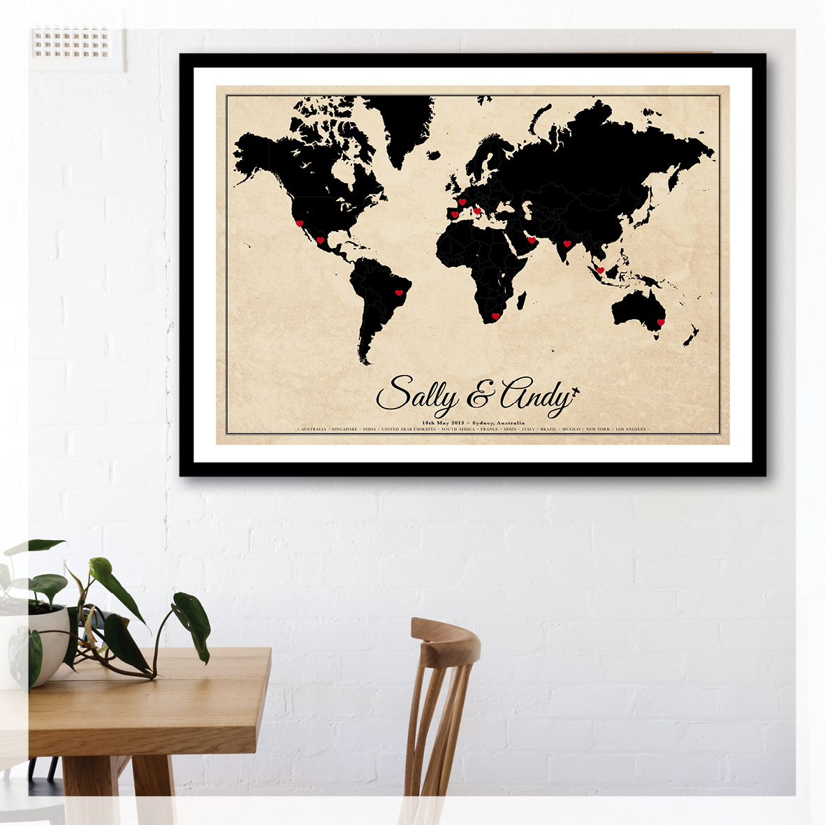 Custom vintage wedding world map quick view gumiabroncs Images
