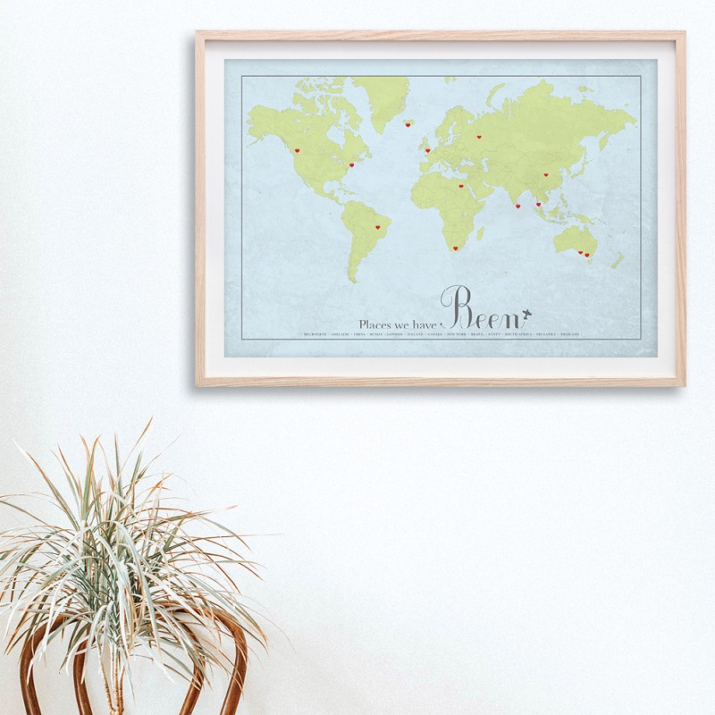 World map - traditional