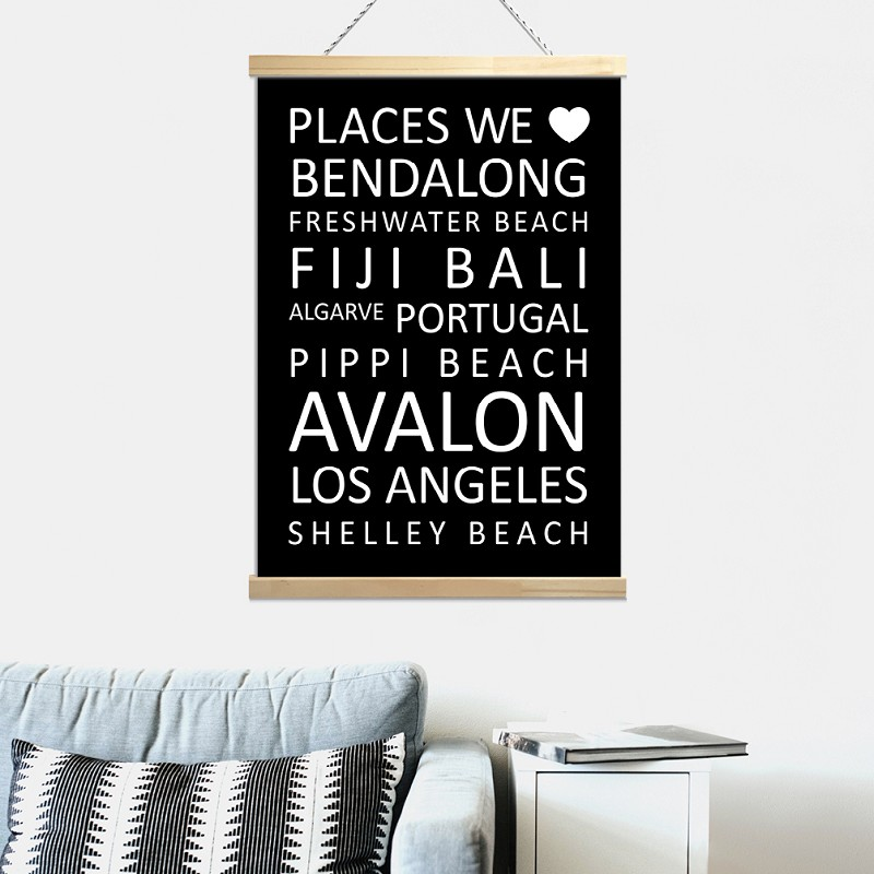 PLACES WE LOVE - canvas roll banner