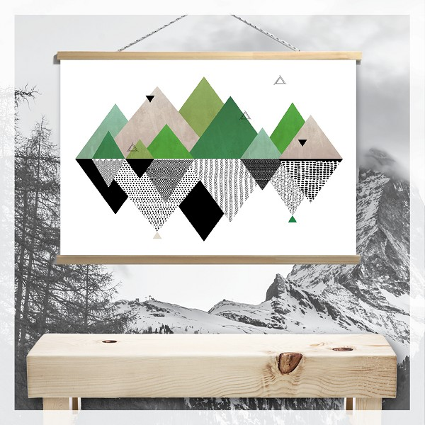 GEOMETRIC MOUNTAINS - Canvas