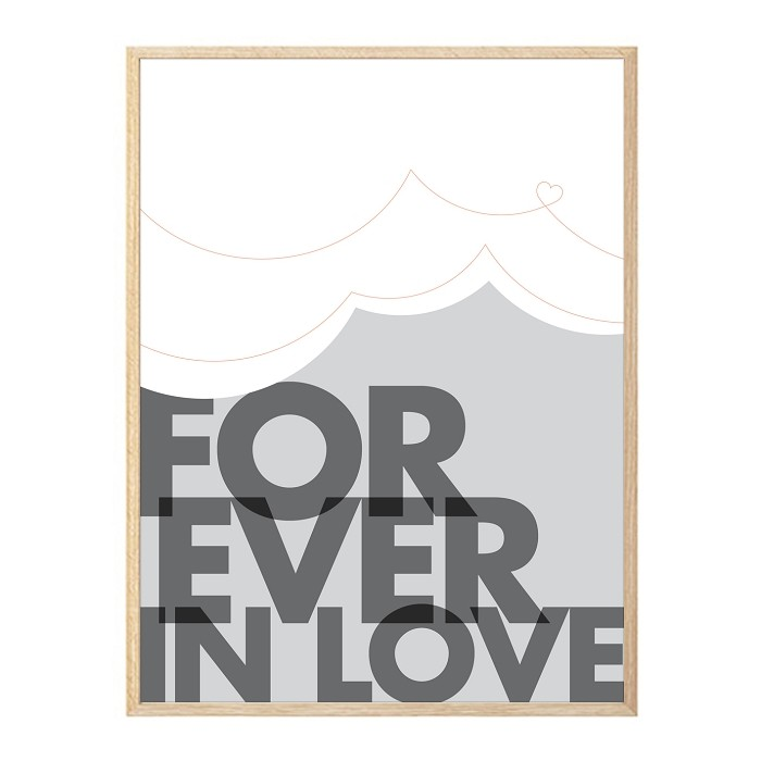 FOREVER IN LOVE - soft grey